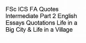 FSc ICS FA Quot... City Poetry Quotes