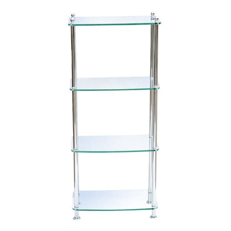 Regal Chrom by 4 Shelf Modern Glass And Chrome Etagere 75 Ebay