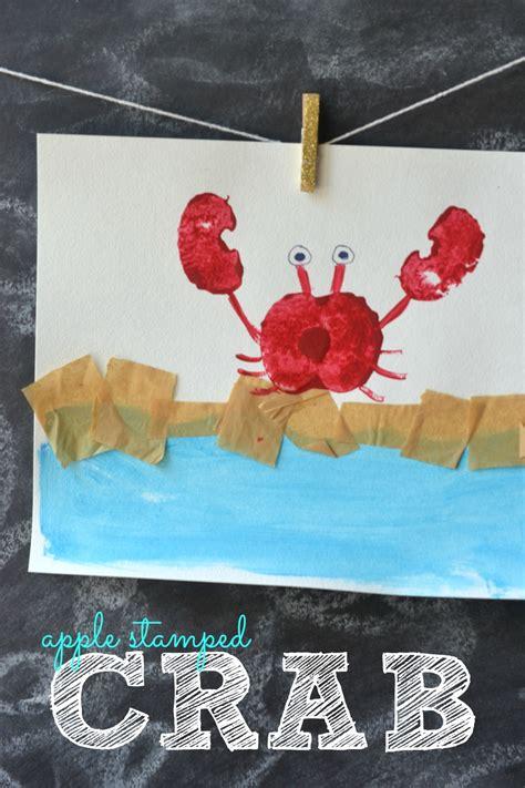 Apple Stamped Crab Kids Craft  Make And Takes
