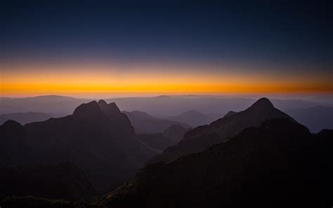 We hope you enjoy our growing. Sunset Horizon Mountains 4K Wallpapers | HD Wallpapers ...