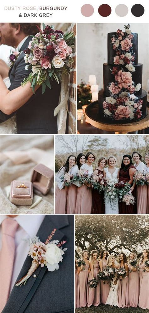 Top 9 Fall Wedding Color Schemes for 2019 dusty rose