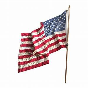 Vintage Weathered American Flag | Chairish