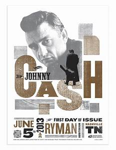 Johnny Cash Poster : johnny cash poster with fdc ~ Buech-reservation.com Haus und Dekorationen