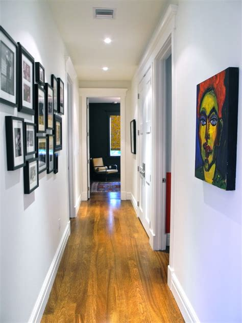 wall decorating ideas for bedrooms hallway to bedrooms contemporary miami by b