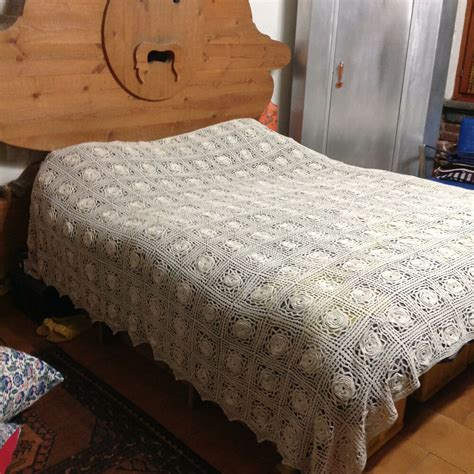 Lace Coverlet Bedding by Antique Vintage Bedspread Coverlet Crochet Bed Cover Lace