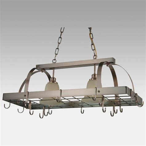 kitchen pot racks with lights 15 collection of pot rack with lights fixtures 8399