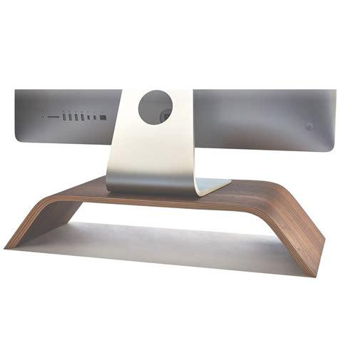 wooden monitor stand desktop walnut imac riser