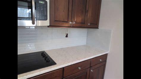 install glass tile kitchen backsplash youtube