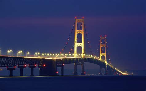 mackinac bridge  night widescreen wallpaper wide