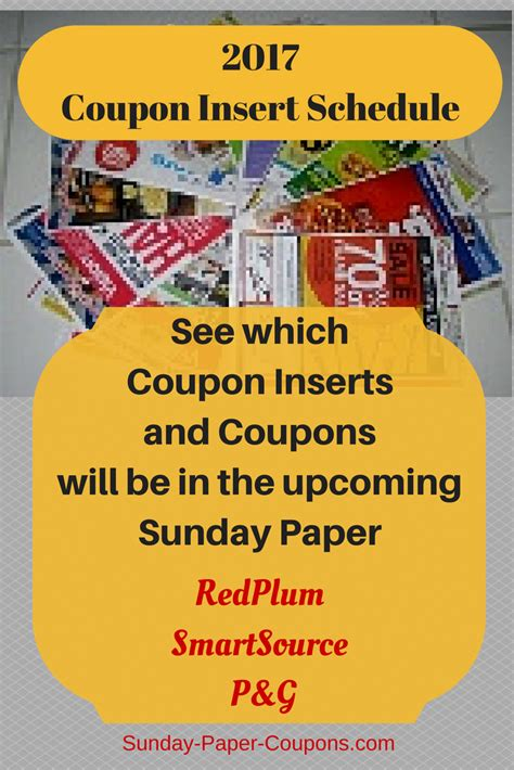 19933 Redplum Coupons Sunday Paper by 2017 Coupon Insert Schedule Preview Sunday Paper Coupons