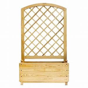 Jardiniere Sur Roulette : jardini re claustra bois naturel ~ Farleysfitness.com Idées de Décoration