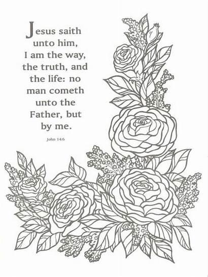 Bible Coloring Pages Verse Verses John Praying