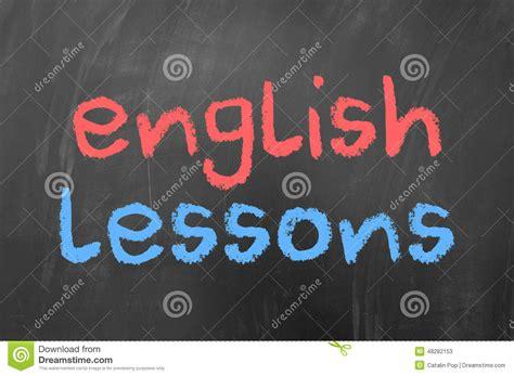 english lessons stock photo image