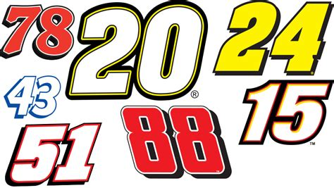 Nascar Fonts Group With 52+ Items