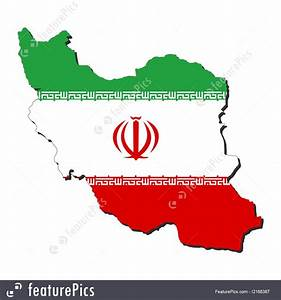 Signs And Info  Iran Map Flag