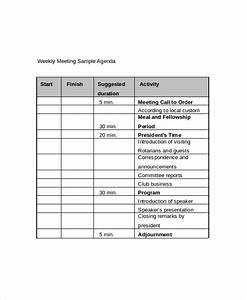 weekly meeting agenda template 10 free word pdf With weekly meeting minutes template