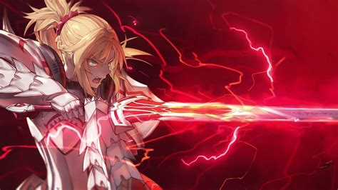 saber  red fate aprocrypha wallpaper engine youtube