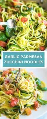 cuisiner pates guilt free garlic parmesan zucchini noodles pasta