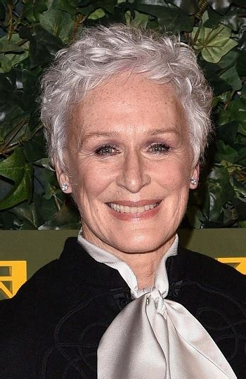 hairstyles glenn close short gray hairstyle