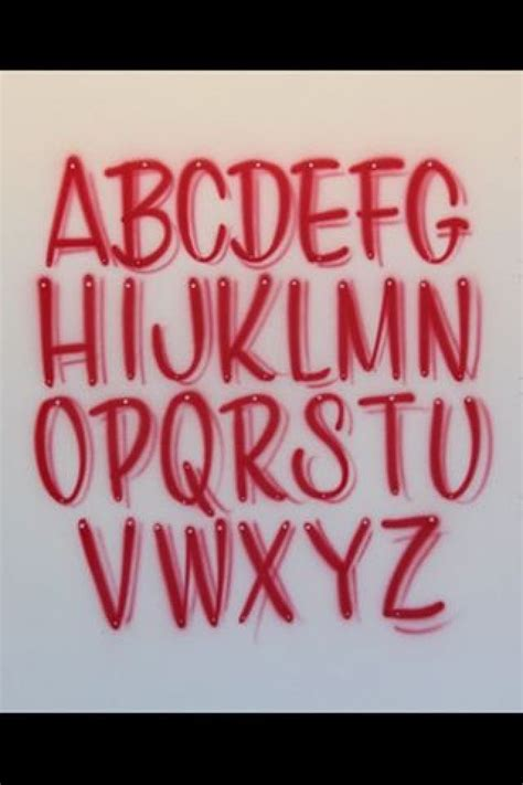 airbrush lettering font casual caps fostergingerpinter