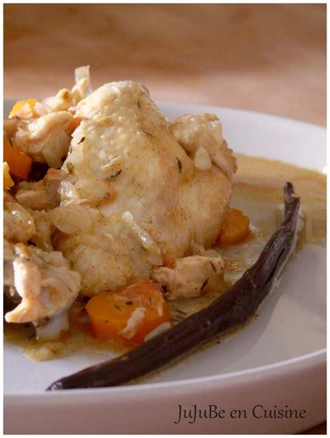 volaille en cuisine poulet à la vanille jujube en cuisine