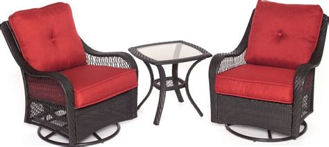 Patio Furniture Ventura by Hanover Orleans 3 Piece Outdoor Bistro Set With Swivel
