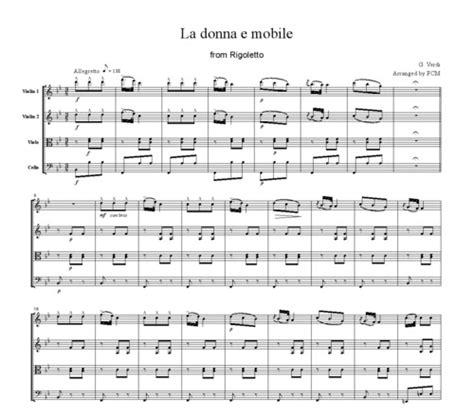 La Donna E Mobile Rigoletto by Verdi La Donna E Mobile From Rigoletto Cv004