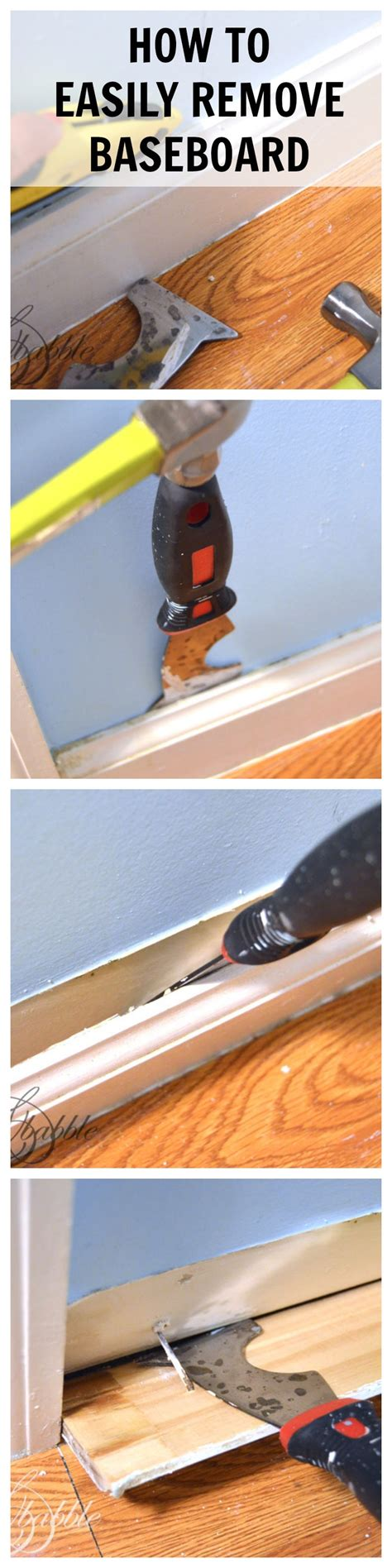 tools needed to remove baseboards powder room makeover about the trim create and babble