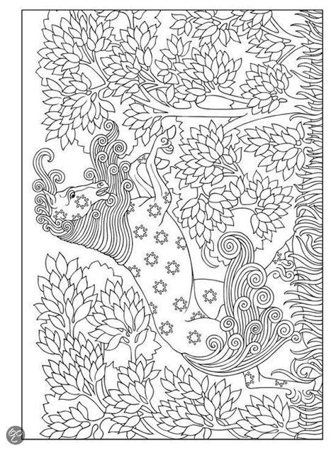Jugendstil Kleurplaat by Bol Creative Nouveau Animal Designs