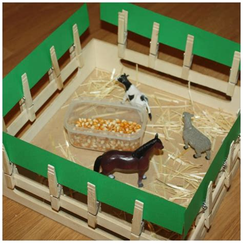 preschool farm activities for math science literacy and 962 | Farm Activities Fence And Stall Building Fine Motor Activity And Play 1024x1024