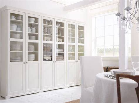dining room hutch with glass doors liatorp bookcase with glass doors white in 2019