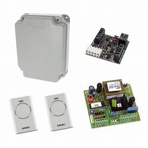 Kit commande radio porte de garage enroulable faac for Commande porte garage