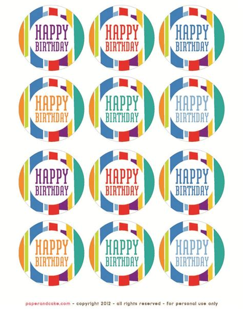 freebie friday   birthday party printables
