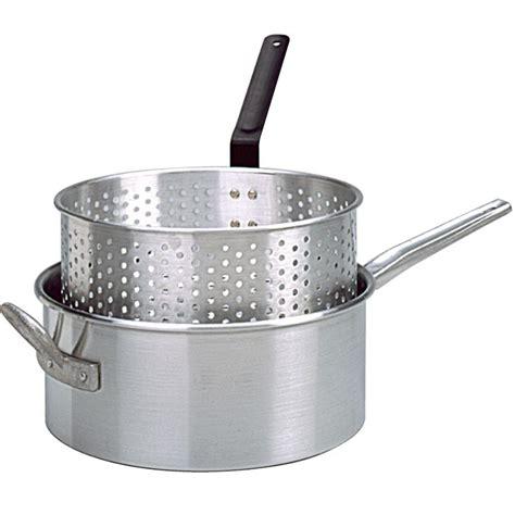 fryer deep pan basket fry handle aluminum king kooker long accessories kk1 punched