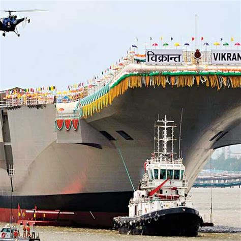 India's First Indigenous Aircraft Carrier Ins Vikrant Undocked