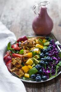Rainbow Salad With Grilled Chicken And Raspberry Walnut