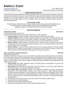 resume sles for finance executives senior financial executive resume