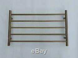 burnished brass brushed gold  heated towel rail rack   mm wide  bar