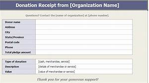 free printable donation receipt template for church temple With donation invoice template