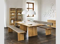 Luxury Natural wood dining table Nox Wharfside Dining