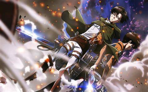 shingeki  kyojin eren jeager levi ackerman anime