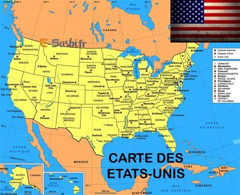 Carte Etats Unis Canada Avec Villes by Infos Sur Carte Des Etats Unis Damerique Avec Villes