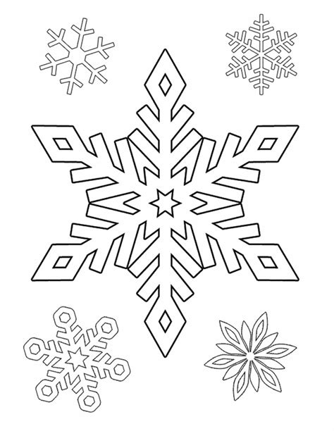 Easy Traceable Snowflake Patterns