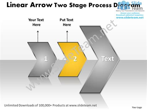 linear arrow  stage process network diagram