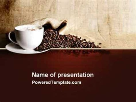 coffee break  cappuccino powerpoint template