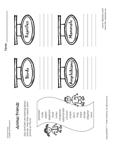 classifying animals worksheet for second grade my