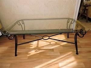 Table Verre Et Fer Forgé : table basse fer forge et verre occasion clasf ~ Teatrodelosmanantiales.com Idées de Décoration