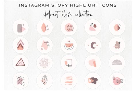 When somebody clicks the icon for a particular highlight album they can watch the story content that you allocate to that album. 20 Instagram story highlight icons - abstract blush icon