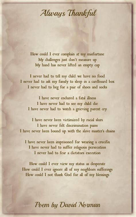 thankful spiritual poems