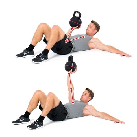 chest press kettlebell exercise exercises arm instabile muscles workout workouts core football easy kettlebells effect routines simple